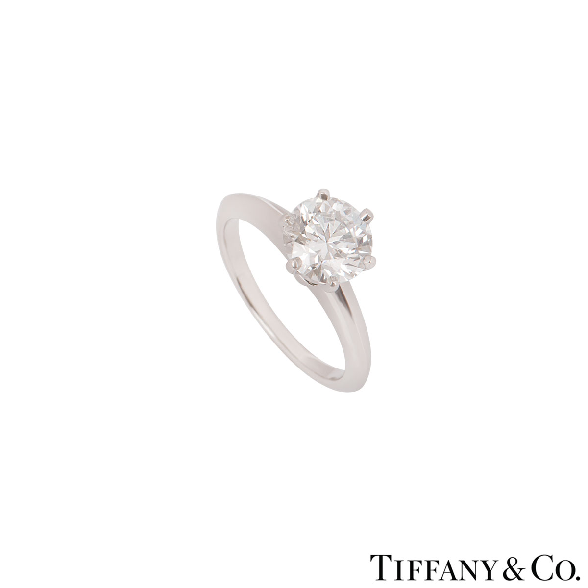 Tiffany & Co. Platinum Diamond Setting Ring 1.39ct H/VVS1 XXX